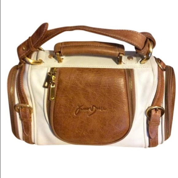 Junior Drake Handbags - Junior Drake White Leather Satchel